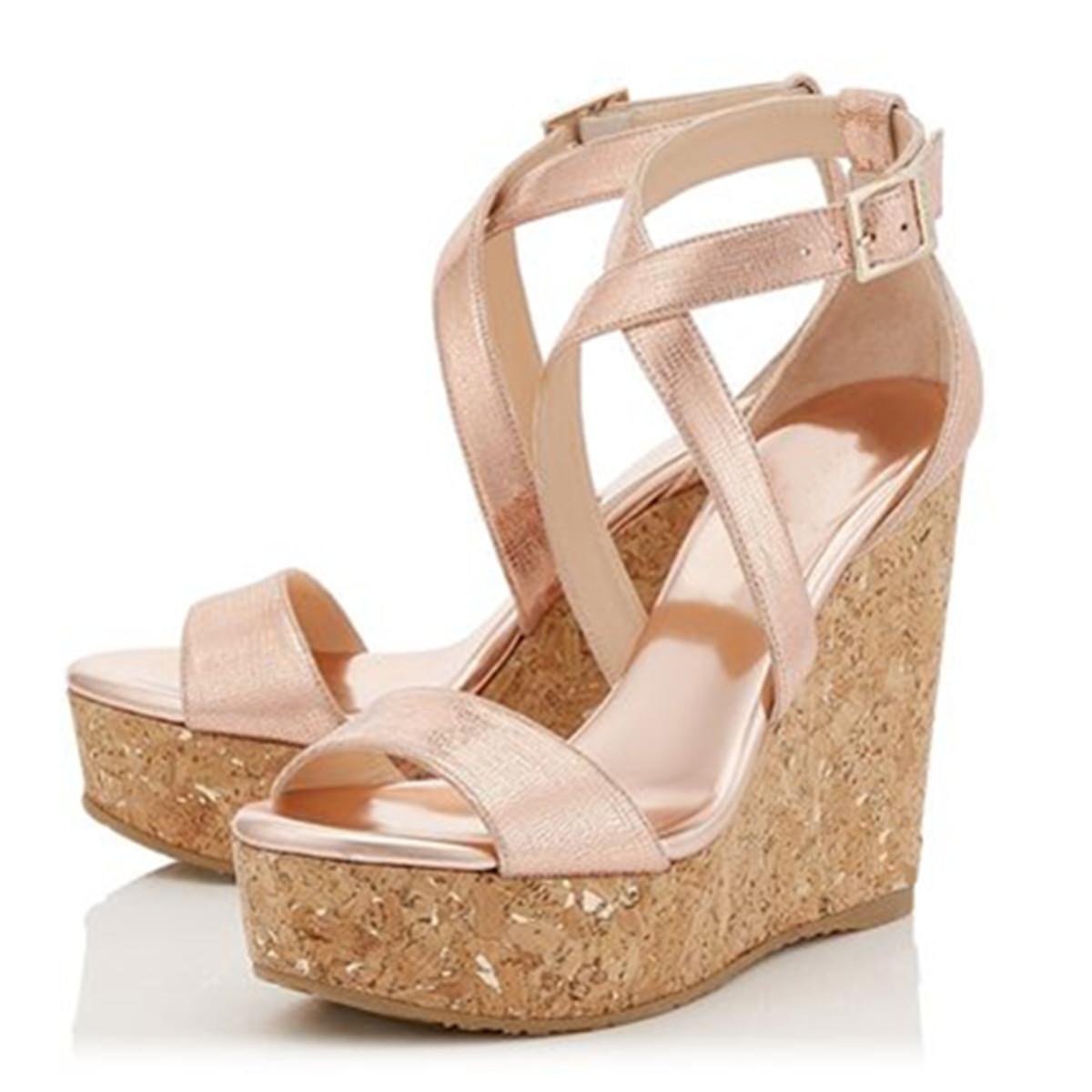 98ff066ea48a US  49 - 2018 summer high heels 14cm cork wedges platform open toe casual  sandals big size - www.ardenfurtado.com