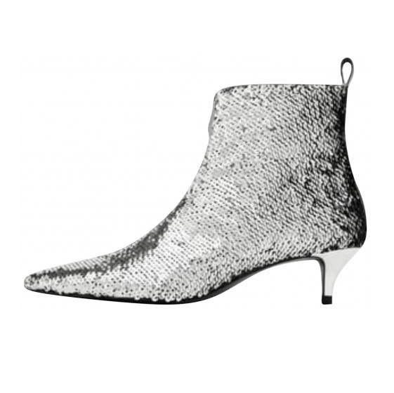 23b8c58ea US$ 55 - stilettos ankle boots shoes for woman zipper lower heels glitter  bling bling pointed toe stilettos boots - www.ardenfurtado.com