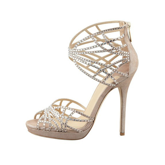 4be1055734f7eb US  59 - 2018 summer high heels stilettos peep toe platform wedding shoes  Bridesmaid Rhinestone zipper sandals - www.ardenfurtado.com