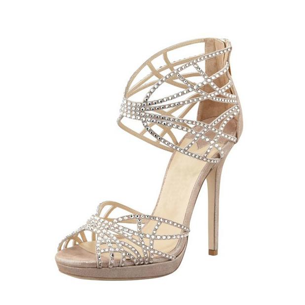 4f3f2d3d44 US$ 59 - 2018 summer high heels stilettos peep toe platform wedding shoes  Bridesmaid Rhinestone zipper sandals - www.ardenfurtado.com