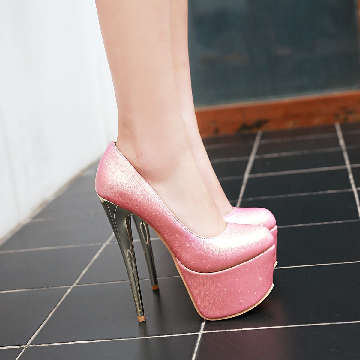 d34e8711667a US  41 - 2018 autumn platform extreme high heels 16cm stilettos round toe  pink nude black wedding shoes small size 32 31 - www.ardenfurtado.com