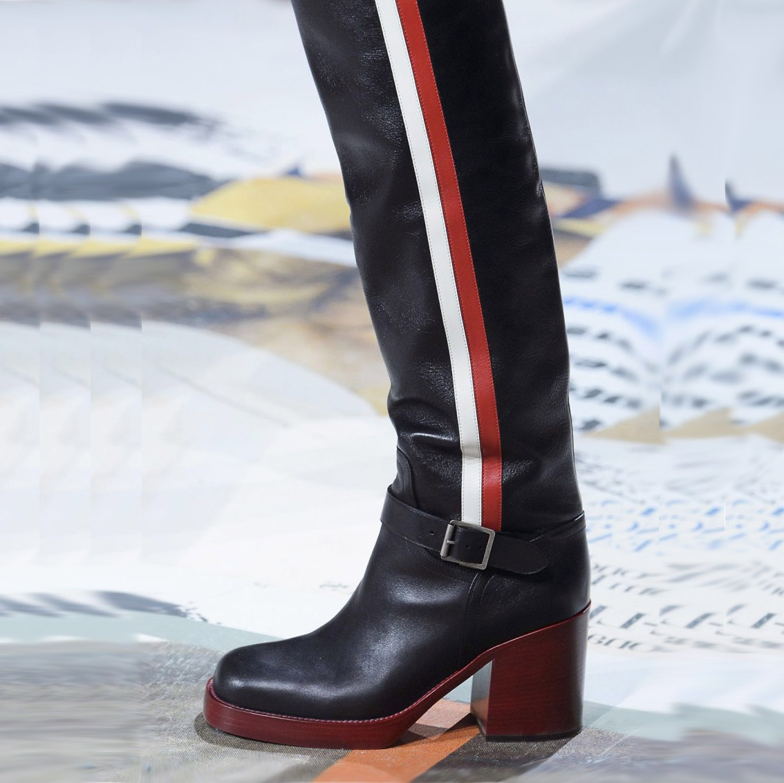 714d235b9686 US  75 - 2018 spring autumn chunky heels 5cm knee high boots genuine leather  ladies women s shoes big size boots - www.ardenfurtado.com