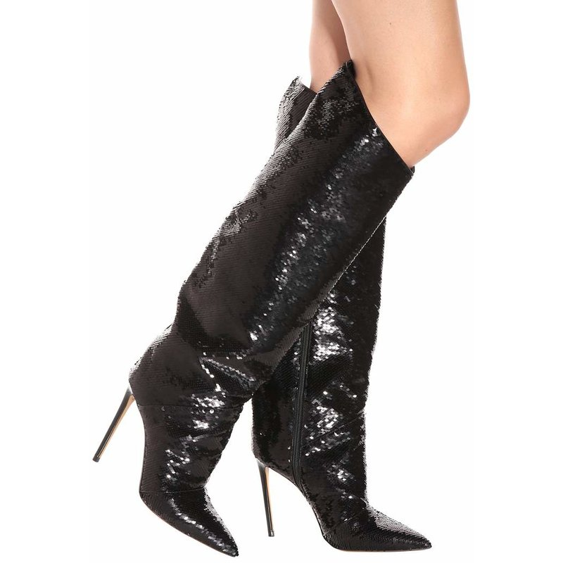 8ea236746ce US  61 - Arden Furtado spring autumn zipper pointed toe white red glitter  bling bling knee high boots shoes woman stilettos high heels fashion boots  ...