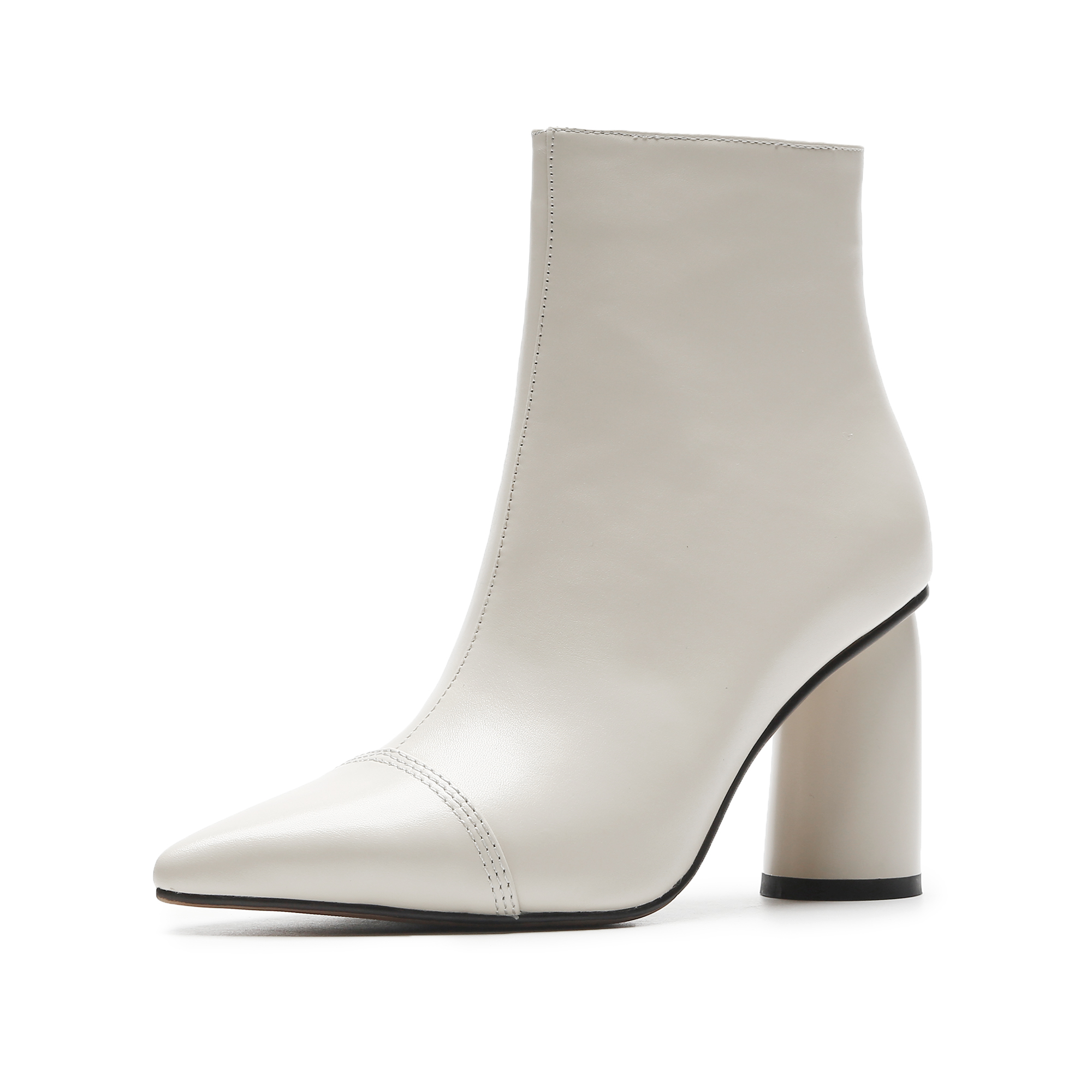 d214ad4ed2 US$ 60 - Autumn/winter 2018 women's shoes hot style pure color simple  leather pointed thick with short style women's boots - www.ardenfurtado.com