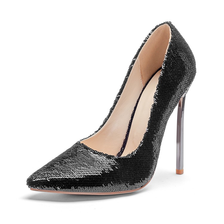 aa613f1e95c US  49 - 2018 hot style women s shoes crystal sequins shoes stilettos heels  sexy large size pumps elegant pointed toe wedding shoes -  www.ardenfurtado.com