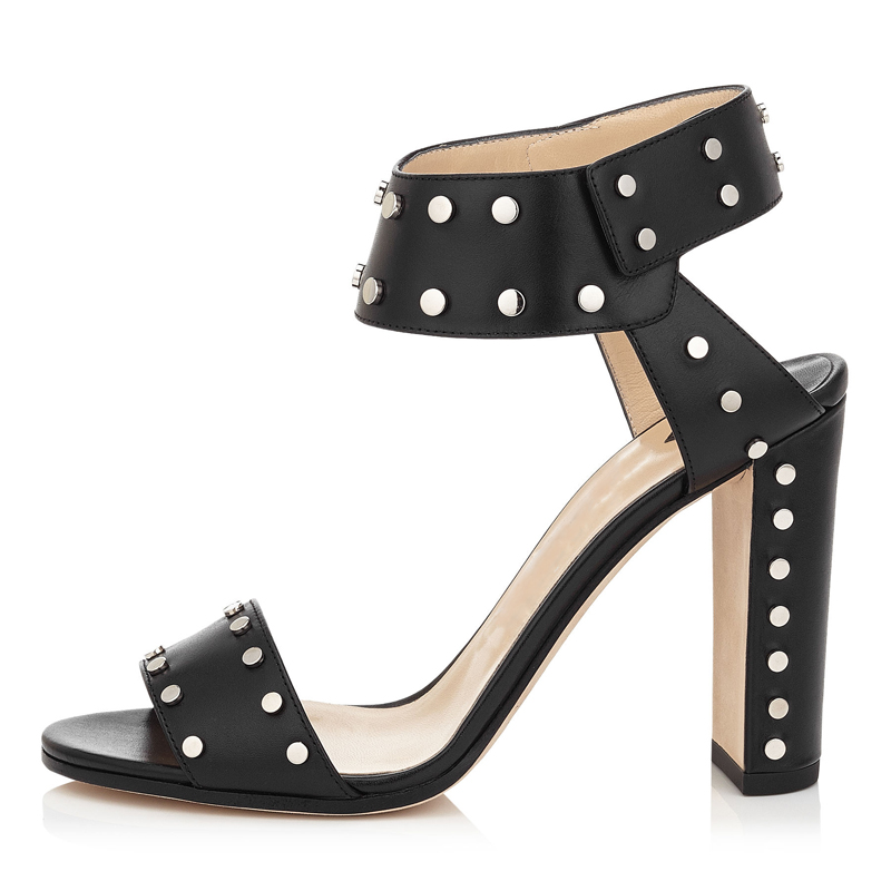 3c92cb488d99 US  46 - Summer 2019 fashion trend women s shoes metal decoration chunky  heels sandals retro sling back big size chunky heels suede brown black ...