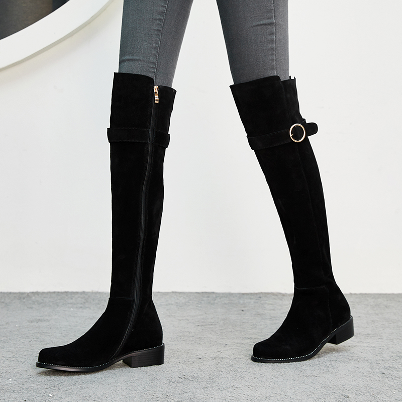 dd23c1c8f02 US  62 - Fashion women s shoes in winter 2019 pointed toe sexy elegant  ladies boots concise office lady zipper - www.ardenfurtado.com