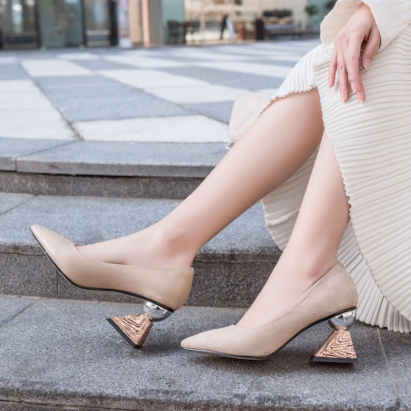 US$ 57 - Summer 2019 fashion trend women's shoes slip-on pumps pointed toe  party shoes nude sexy elegant concise mature office lady -  www.ardenfurtado.com