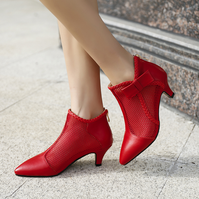32cb8e5b8ec2 US  53 - Summer 2019 fashion trend women s shoes zipper apricot black cool  boots sexy elegant pointed toe office lady red wedding shoes -  www.ardenfurtado. ...