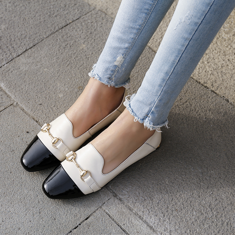 47aac9bad55 Summer 2019 fashion trend women's shoes slip-on pumps flat pumps mixed  colors big size metal decoration comfortable novelty