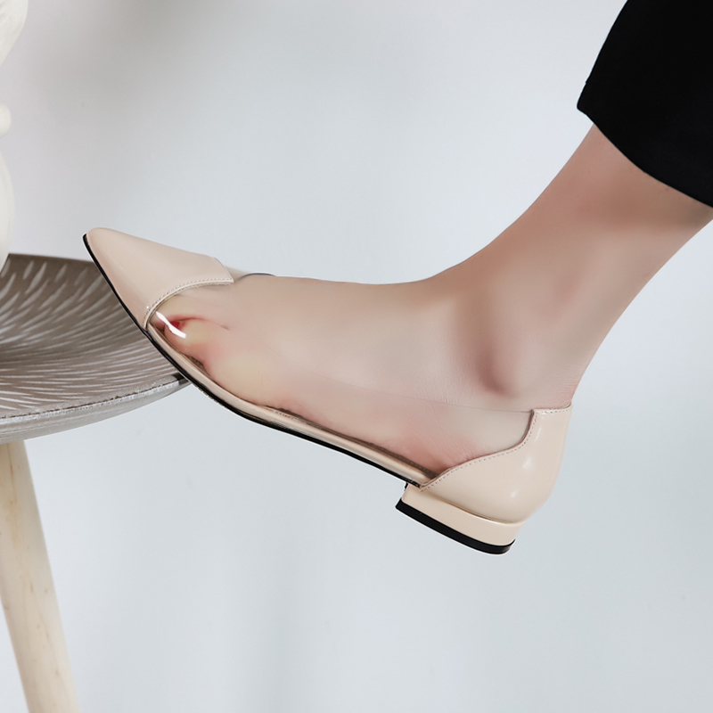 b5a391b38 US$ 52 - Summer 2019 fashion trend apricot women's shoes pointed toe  slip-on flat ladylike temperament pumps joker concise mature office lady ...