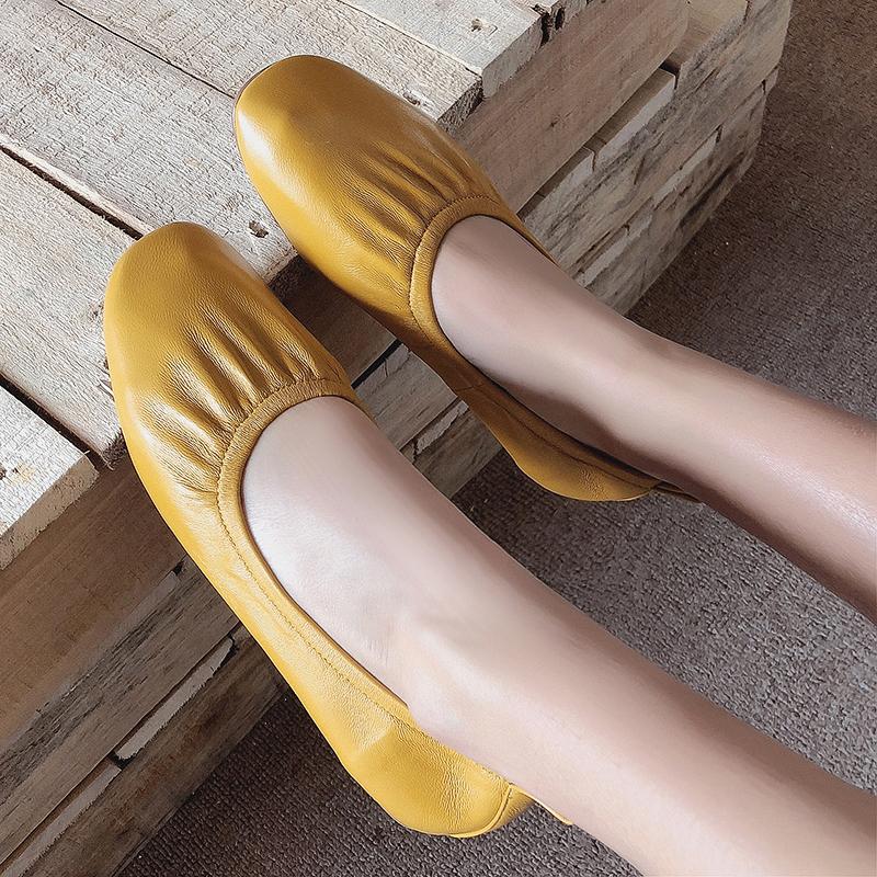 0d71c5b3efa US  52 - Arden Furtado summer 2019 fashion trend women s shoes pointed toe  flat slip-on yellow pure color concise mature size 33 42 -  www.ardenfurtado.com
