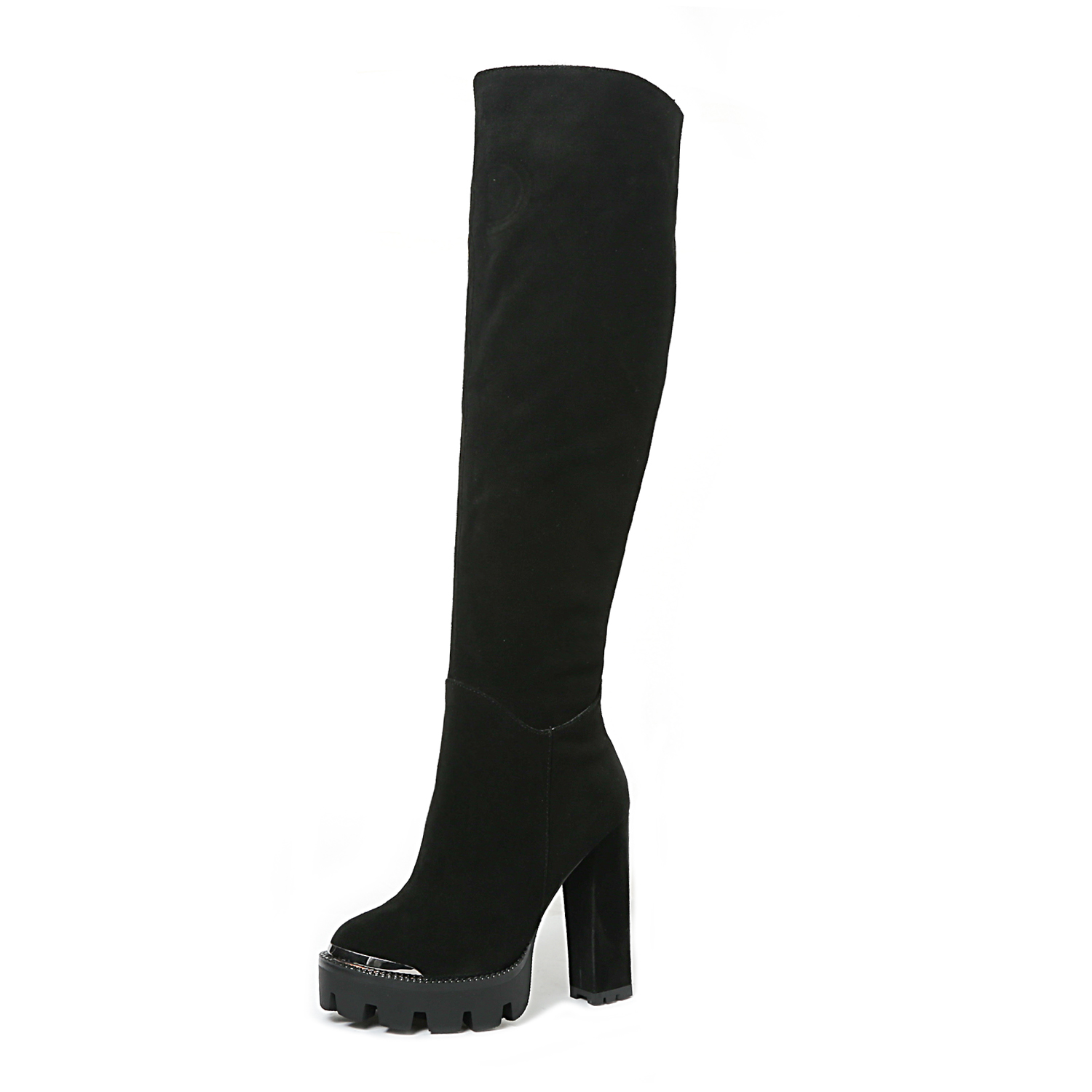 1a119ea1b78 US  61 - Arden Furtado fashion women s shoes in winter 2019 pointed toe  chunky heels zipper over the knee high boots concise mature -  www.ardenfurtado.com