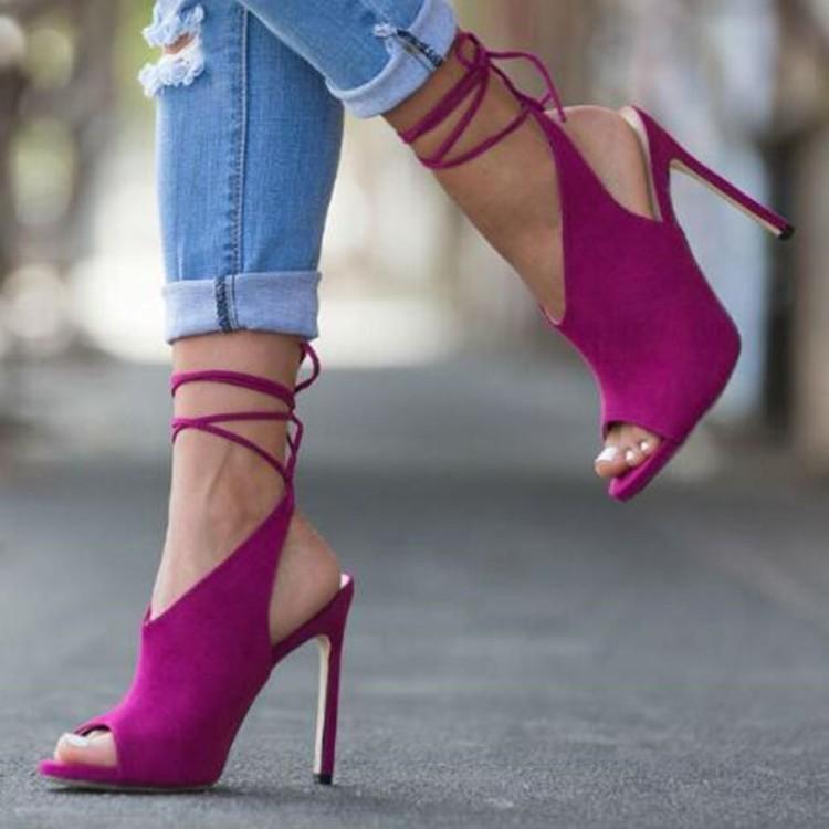 ac36993a4f1 US  52 - Arden Furtado summer 2019 fashion trend women s shoes stilettos  heels ankle strap sexy big size 45 office lady ladylike temperament ...