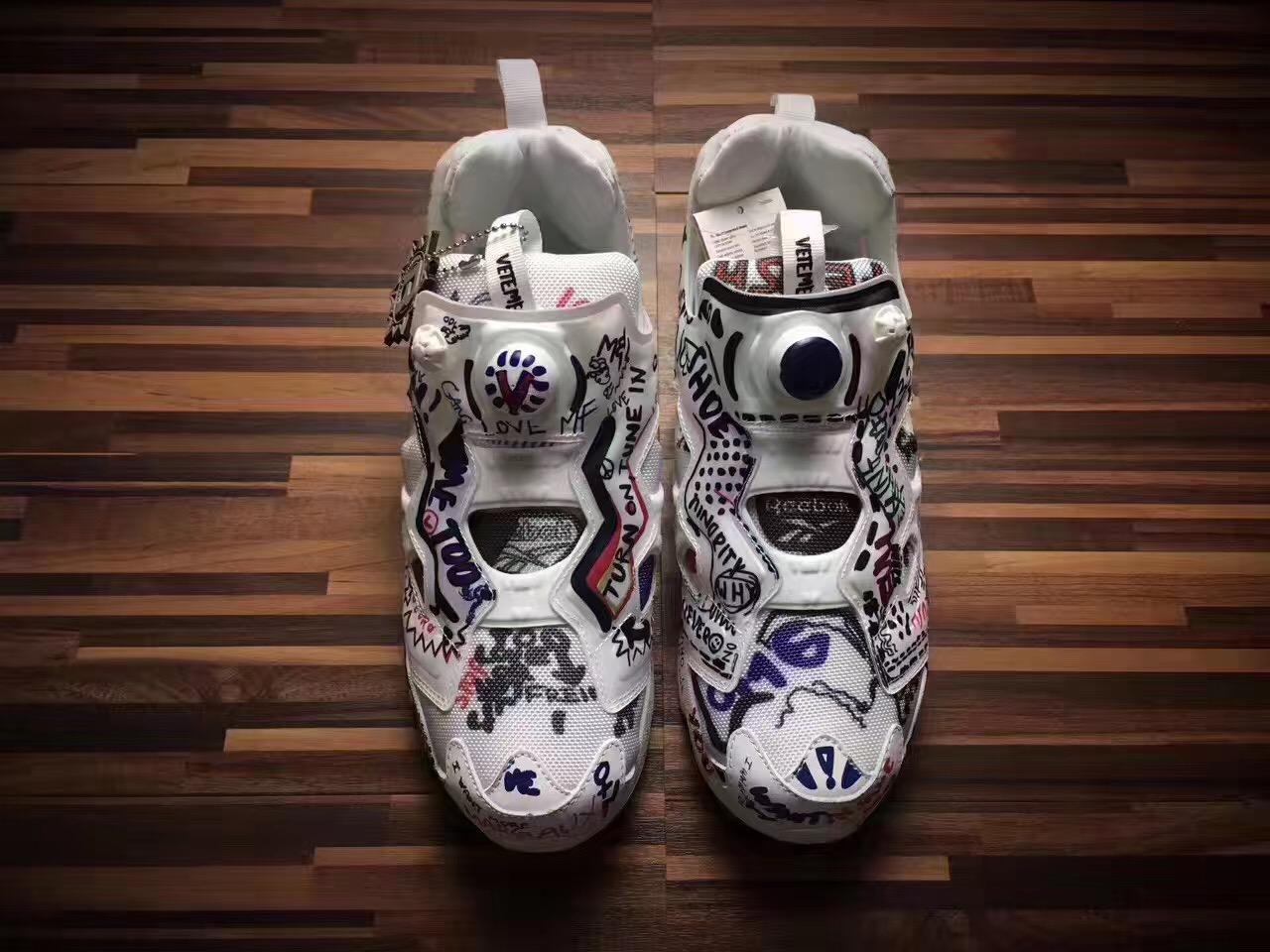 768dfa295d9f Falection 17fw Vetements x Reebok Insta Pump Fury Grafitti Sneakers Item  NO  62627
