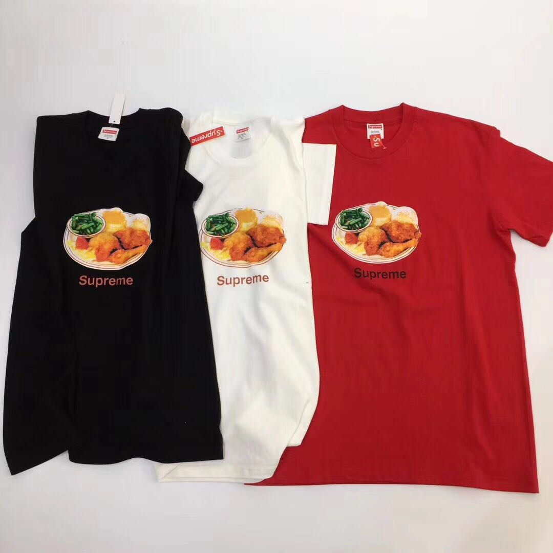 1a6d462ed2b5 US$ 45 - Falection 18ss Supreme Chicken Dinner Print Tshirt - www ...