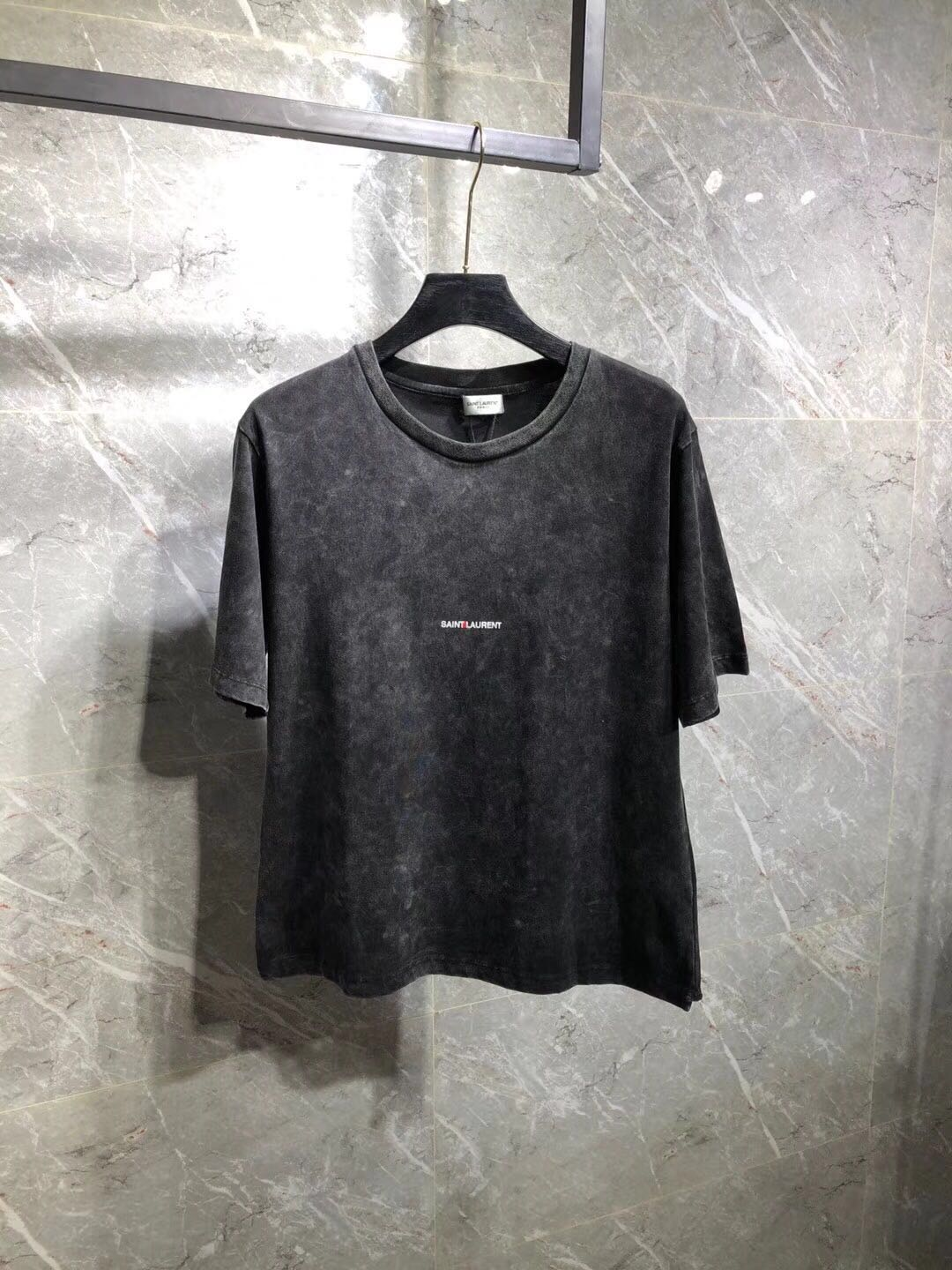 070b0a4f Falection 18ss Saint Laurent Paris Washed Grey small Logo Tshirt Item NO:  543781