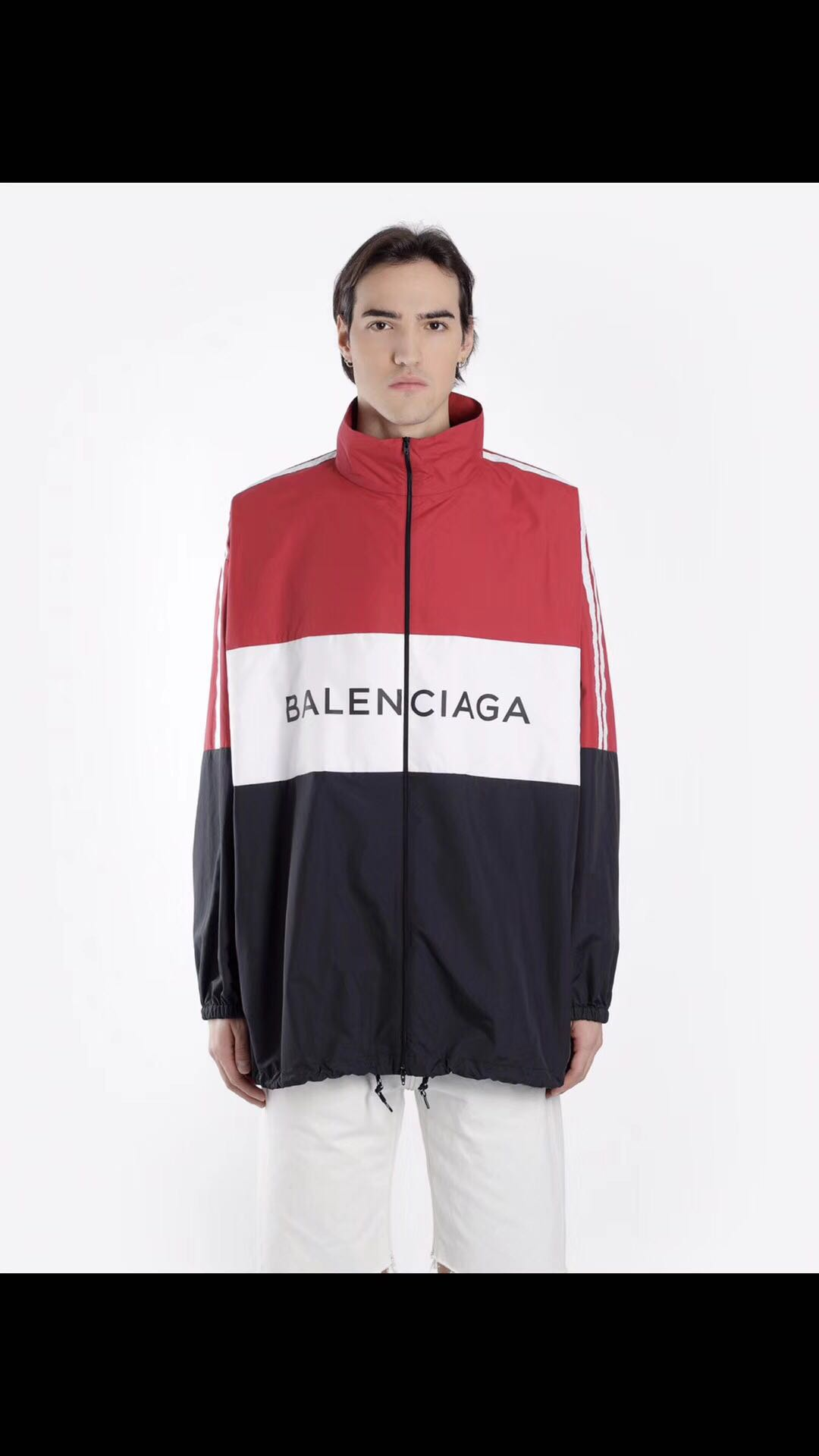 BALENCIAGA 18SS TRACKSUIT Poplin Shirt