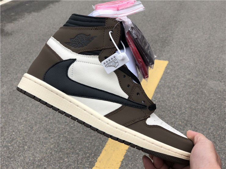 sale retailer c76b1 a6b41 AIR JORDAN 1 X TRAVIS SCOTT NIKE LOGO SNEAKERS