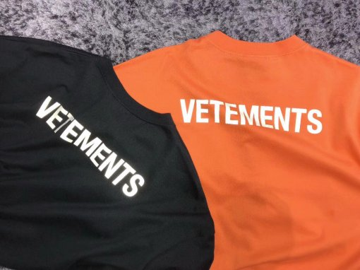 d0b9ae5a5ec4 Falection 18ss Vetements AG Staff Print 3M Reflector Cotton Tshirt  Oversized Tee