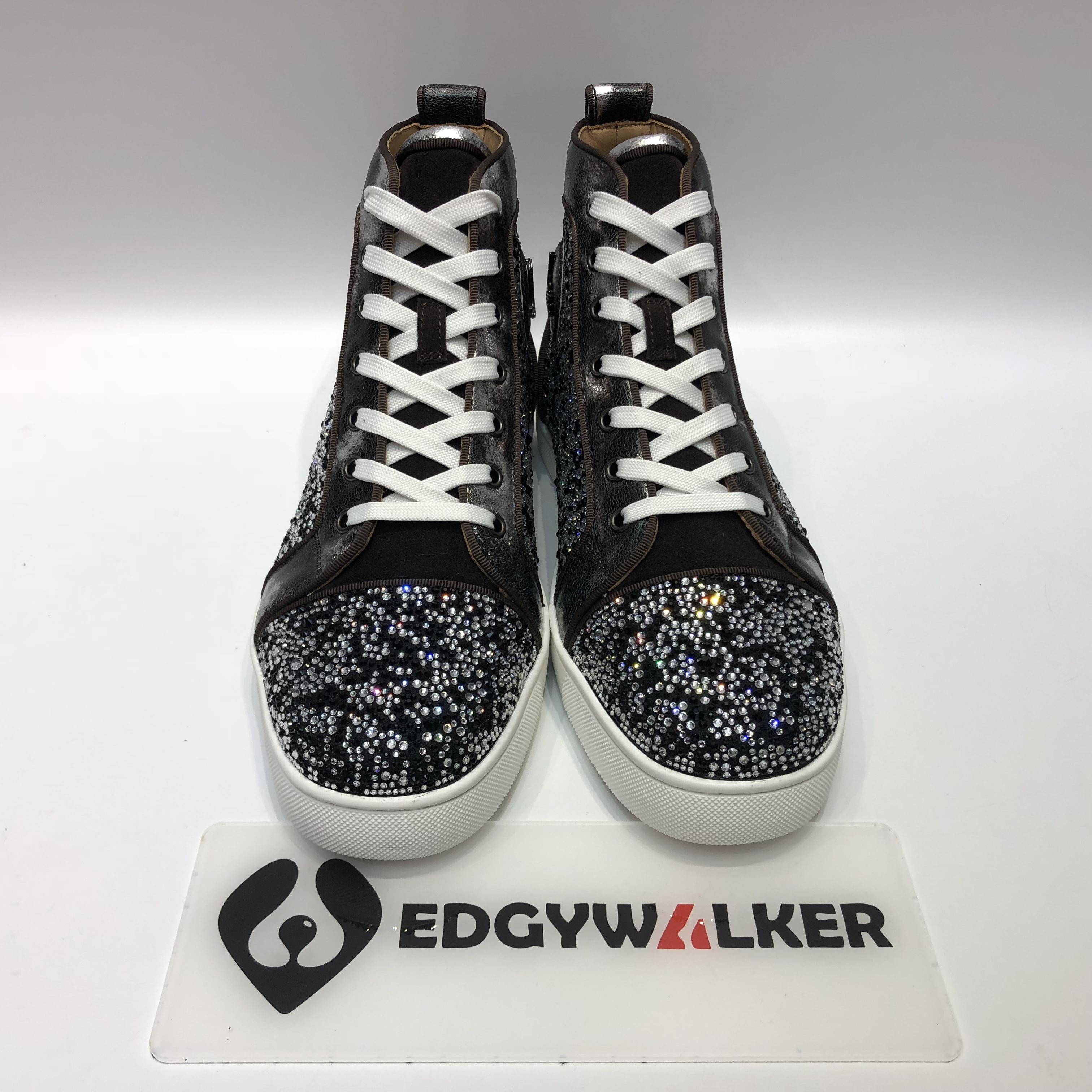 8488cbcfa2a US  300 - CLSKH155 Louboutin Louis Orlato Men s Flat Reglisse Silver Highs  Sneaker - www.edgywalker.net