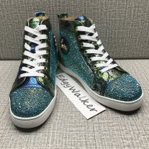 1bab72804d9 US  500 - CLSKH75 Louboutin Louis Strass Green Python Leather High-top  Sneaker - www.edgywalker.net