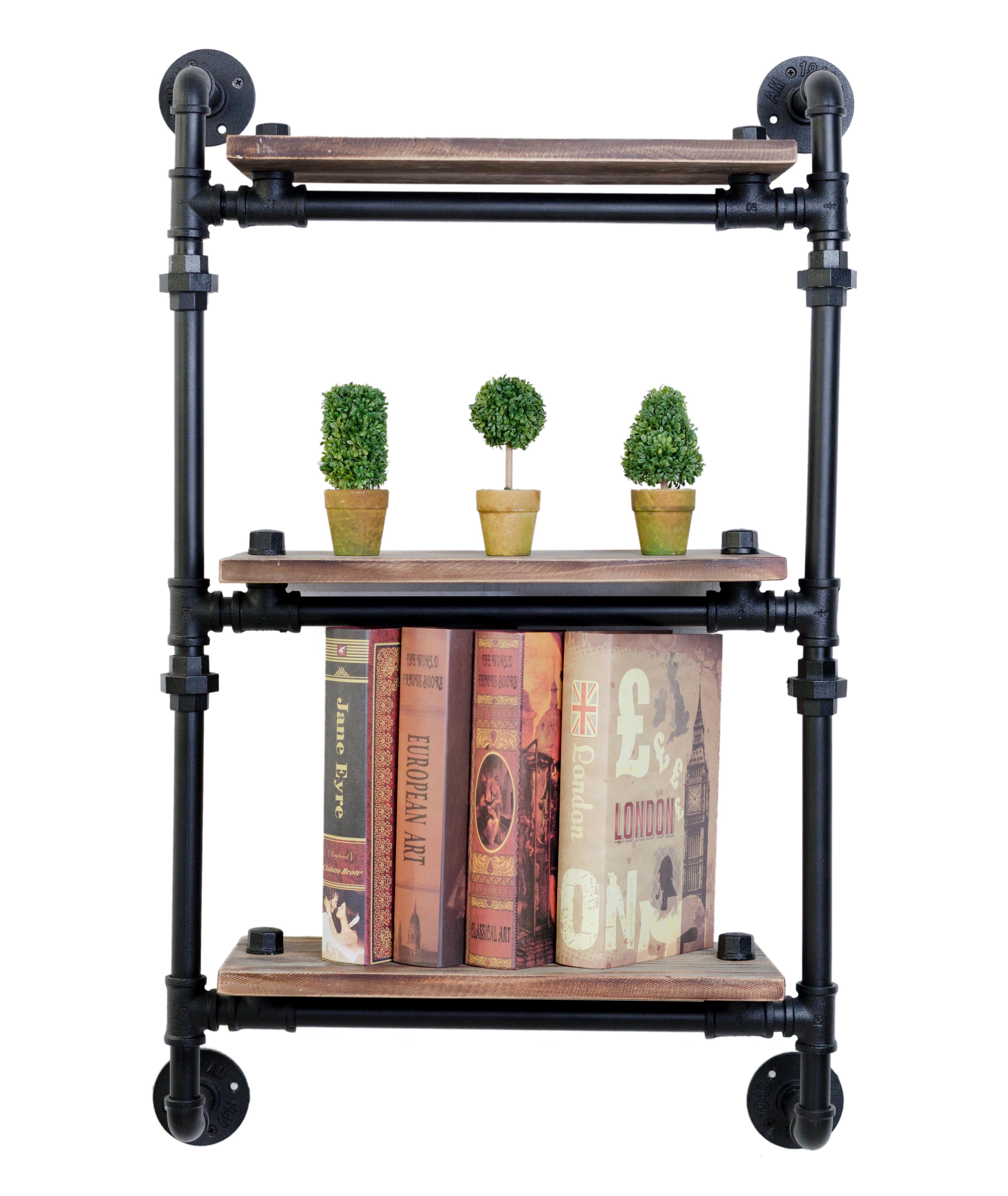 Diy Industrial Pipe Bookcase