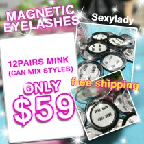 magnetic mink lashes  black case