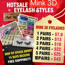 Retail mink 3d eyelashes