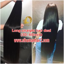 Best quality long hair Straight 30-40inch