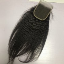 8a 4*4  closure kinky straight