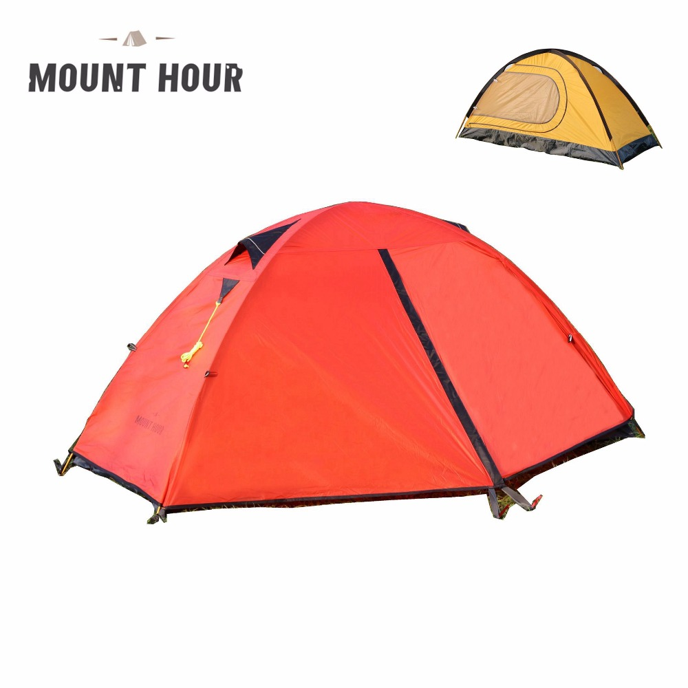 Mount Hour Single Light Backpacking Tent 4 Season Item NO Mounthour001-Red  sc 1 th 225 & Mount Hour Single Hiking Tent 20D Silicone Fabric Light ...