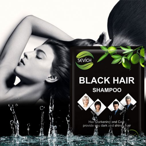 Professional healthy black hair shampoo wholesale fast hair black shampoo 10pcs