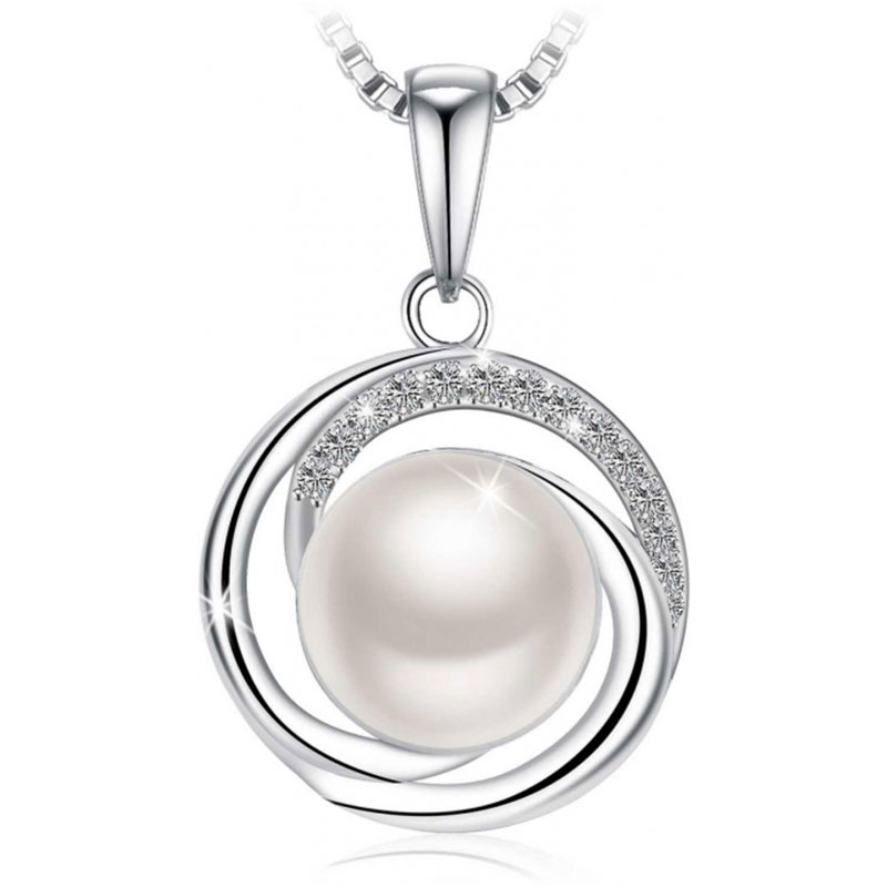 Us 13699 swarovski elements 925 sterling silver pearl pendant swarovski elements 925 sterling silver pearl pendant necklace for female women ladies girls gift jewelry jr692 item no 88643 aloadofball Images