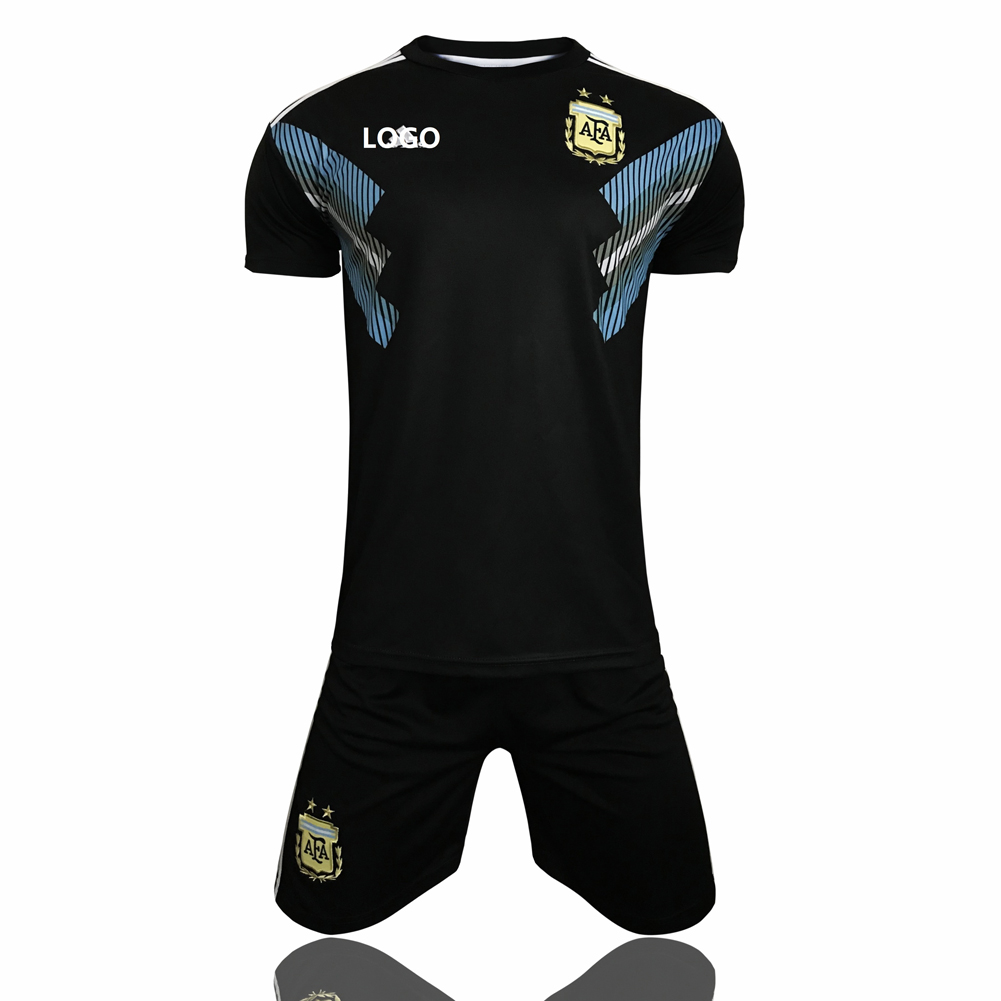 cc62a7e946f 2018 Argentina Away Adult Men World Cup Soccer Jersey Kits Football  Uniforms Cheap Soccer Jerseys