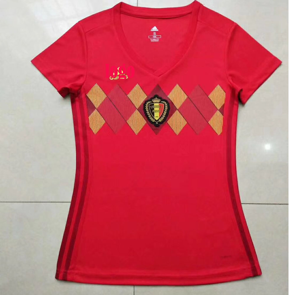 0850542aa 2018 Russia World Cup Belgium Home Woman Soccer Uniform Woman Football Kits  Custom Name Number