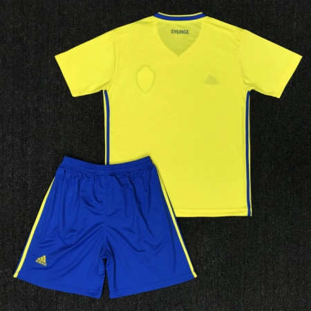 watch 80672 a756e 2018 Sweden Home Yellow Adult Soccer Jersey Uniforms Russia World Cup  Football Team Kits custom soccer kits