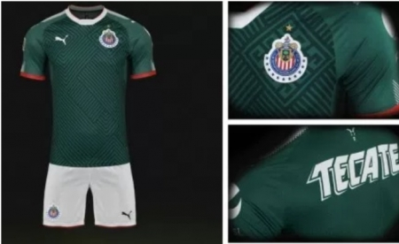 finest selection a8b16 473b9 Adult Custom Soccer Uniform kits Chivas de Guadalajara 2017/18 Third Jersey  Soccer Kit Green