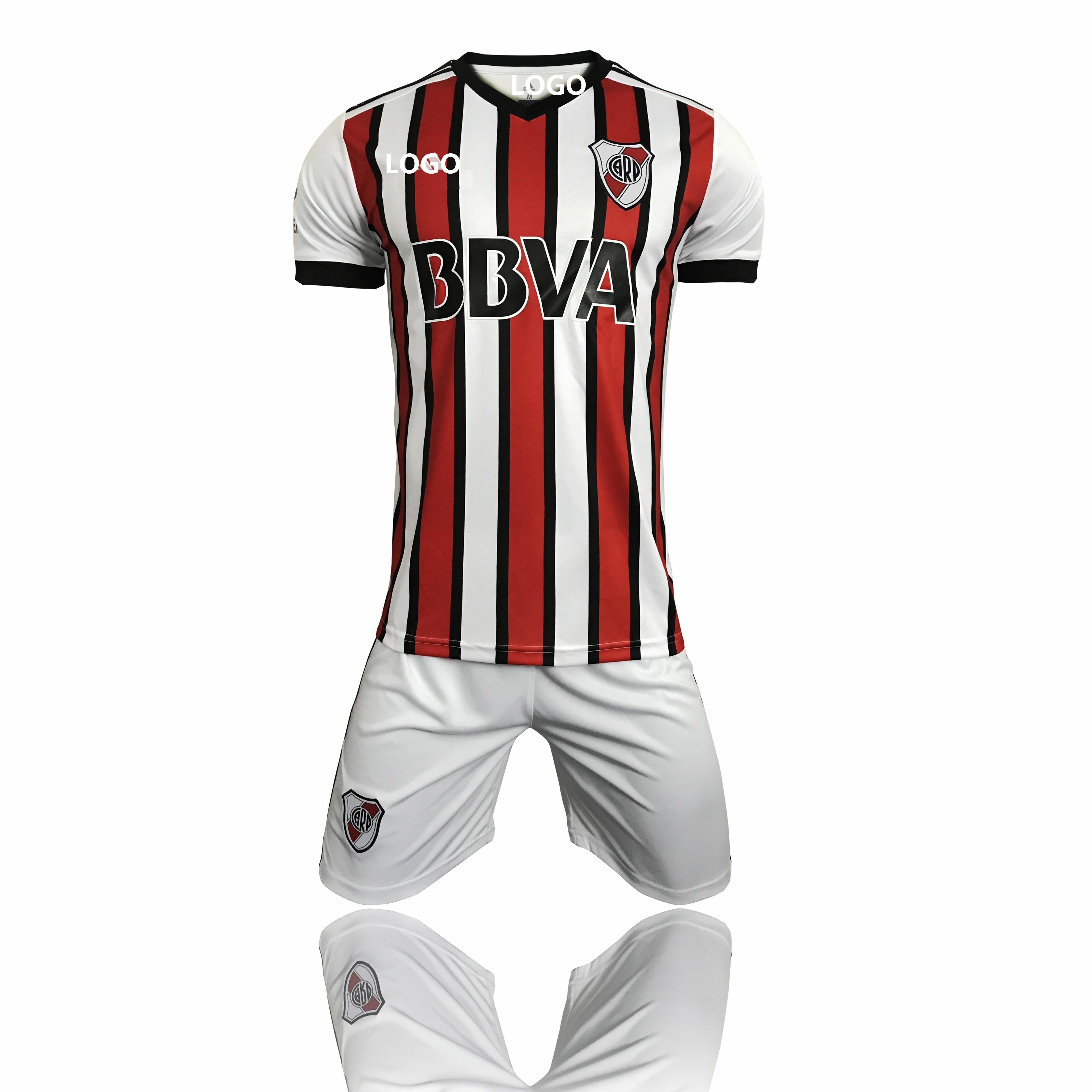 89ca2eccc99 2018 River Third Away Adult Soccer Jersey Uniform Kits Men Football Shirt  and Short Custom Soccer Jersey Uniform