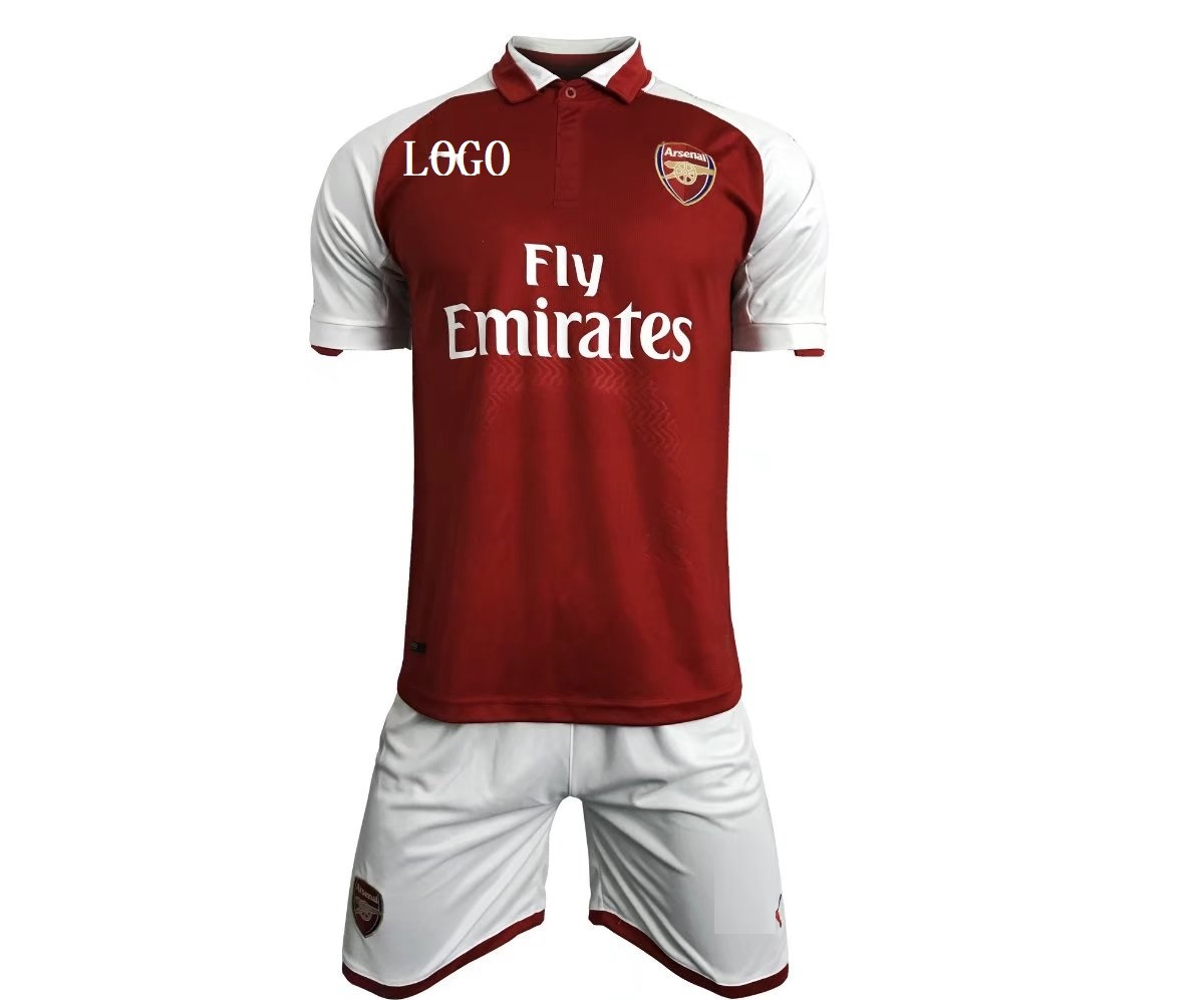 e1d71778e31 2017 2018 Arsenal Home Kits Red white Cheap Adult Soccer Jersey Men Team  Football Complete Sets