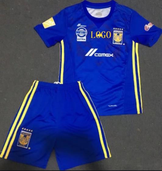 2ba1e059c67 2016 17 Men Tigres Away Blue Football Uniforms Soccer Jersey Kits Wholesale  Custom soccer team kit