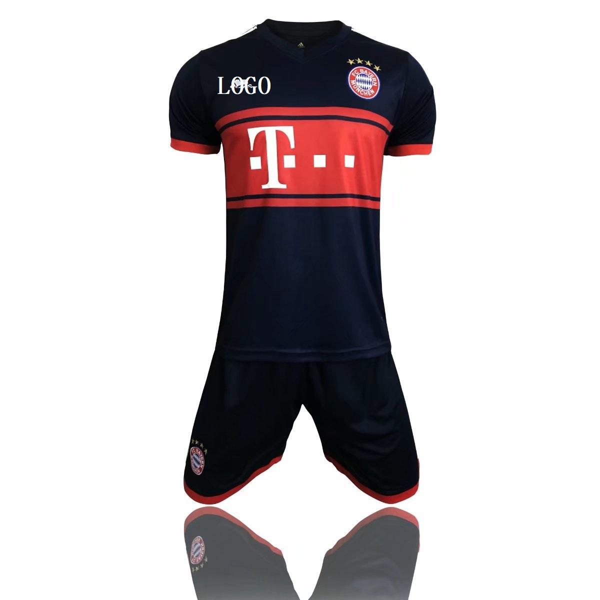 946513259 Bayren Munich Away Black red Soccer Uniforms Cheap Adult Football Kits  custom soccer jerseys