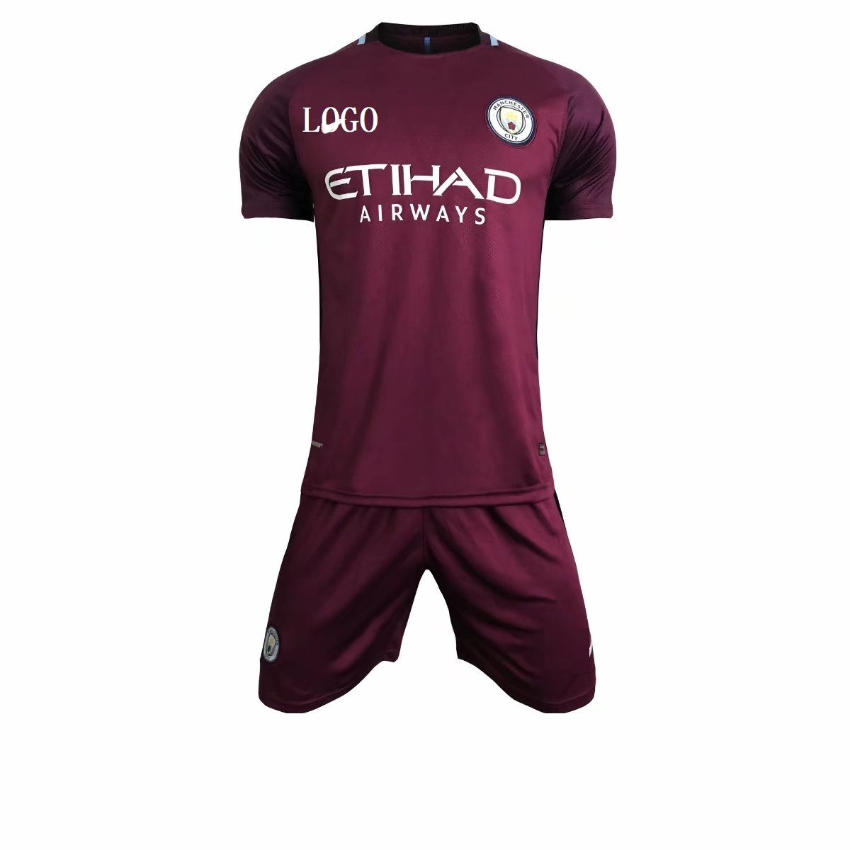 free shipping c505b f7fbd 2017/18 Adult Manchester City Away Purple Soccer Jersey Uniforms Men  uniformes de futbol soccer soccer jerseys for sale