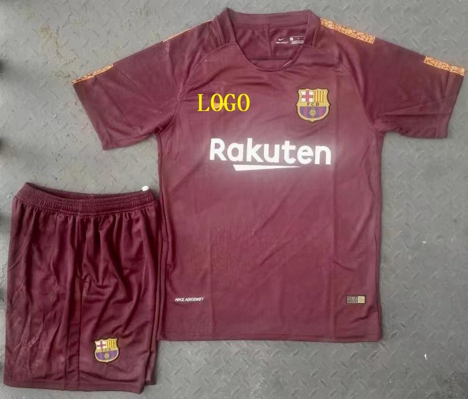 17-18 A Quality Adult Barcelona Second Away Wholesale Soccer Jersey Uniform  Shirt+Short Man Football Sport Jersey dd9a13da4fae