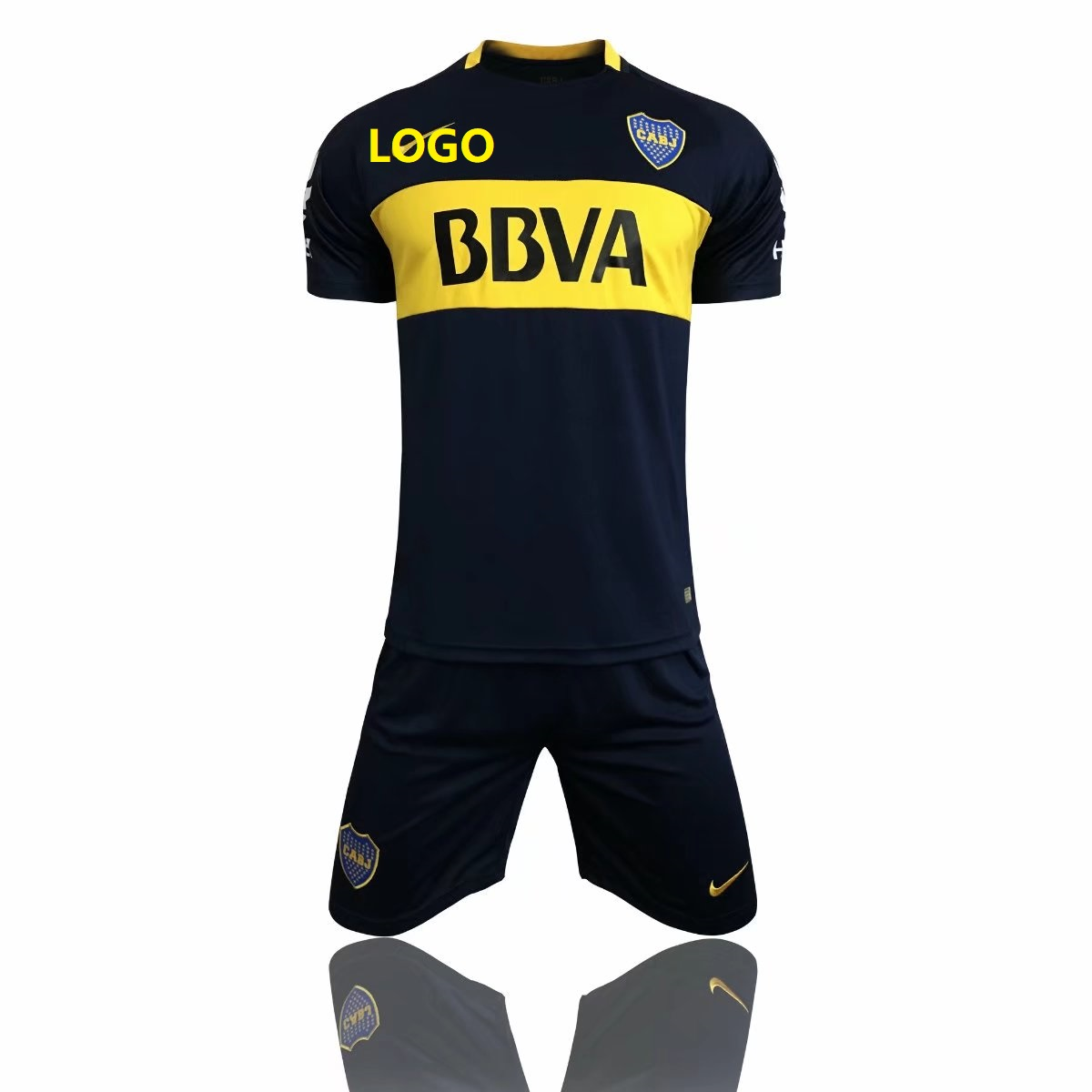 0fe0712e3 17 18 Adult Club Atlético Boca Juniors Soccer Jersey Uniforms Men Cheap  Football Kits Custom soccer Team Jersey set