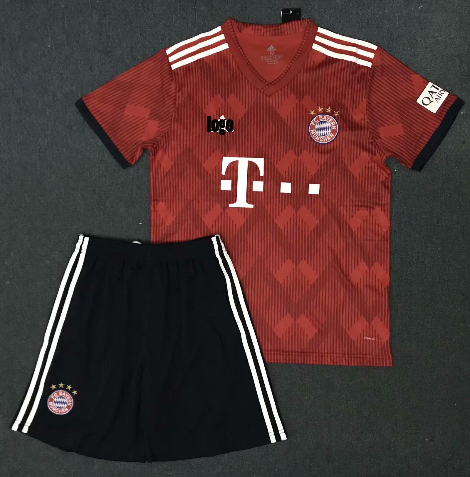 buy popular 1c4d7 c30a4 2018/19 Cheap Bayren Munich Home Red Adult Jersey Uniform kits lewandowski  9 Man Cheapest Football Complete Uniform Custom design Soccer jersey