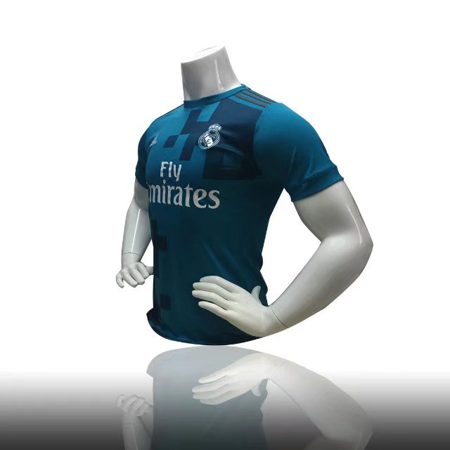 hot sale online a9b88 9603a Wholesale Men Soccer Jersey Real Madrid Second Away Shirt Blue Adult Soccer  Kits Thailand Quality