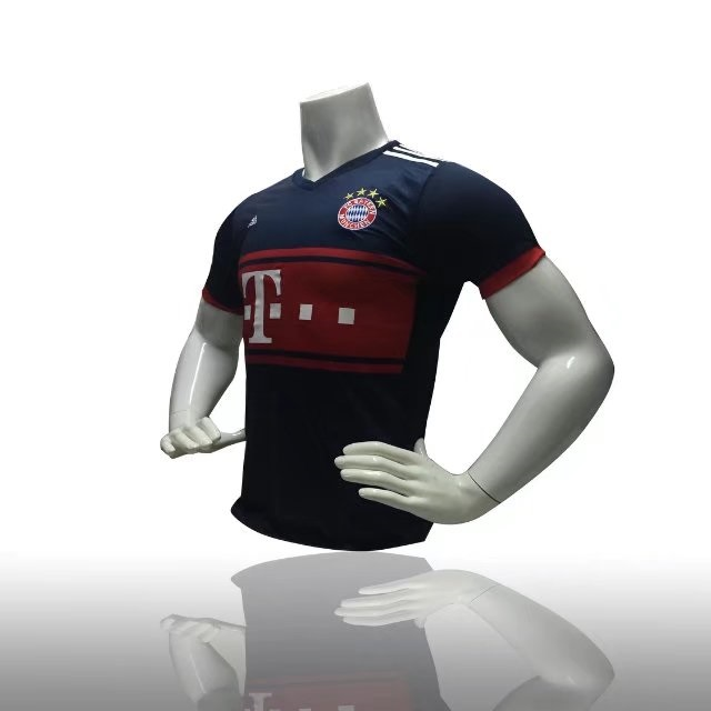 detailing 005d2 510dd 2017/18 BAYREN AWAY blue Soccer Jersey for sale Custom Replica football  shirt Wholesale Adult Soccer shirts