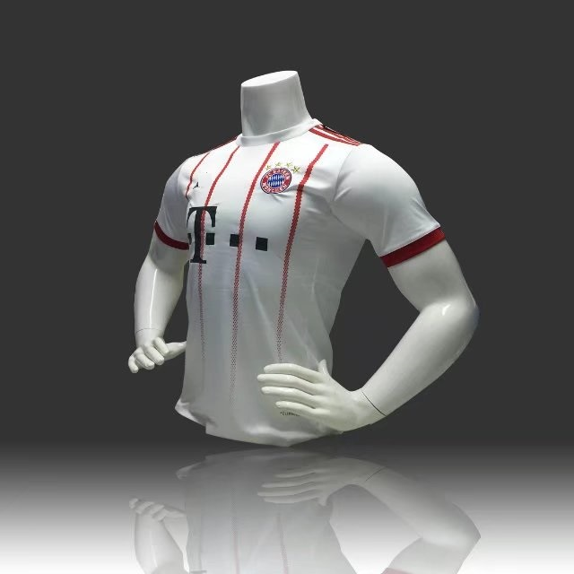 80de8cb351f Custom Youth White Red Bayren Second Away Soccer Jersey Wholesale Adult  Football Shirt Men Team Kits