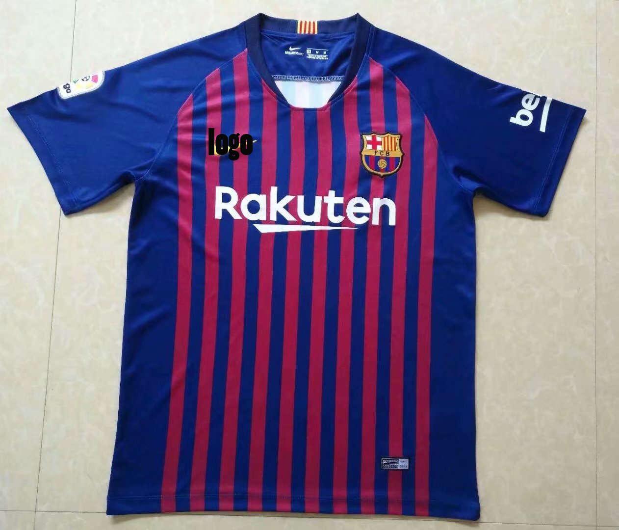 9f44e5b6010 2018 19 Cheap Replica Futbol Club de Bacelona Soccer Jersey Custom FCB  Football shirts